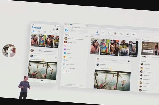 mark zuckerberg in front of screen