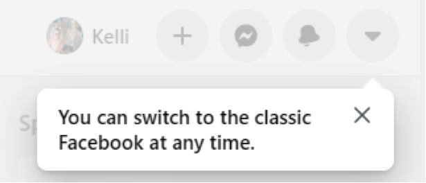 switch to facebook classic notification